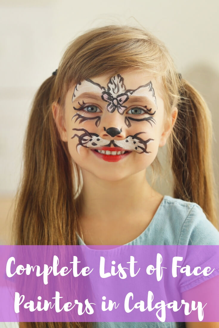 Complete List of Face Painters in Calgary