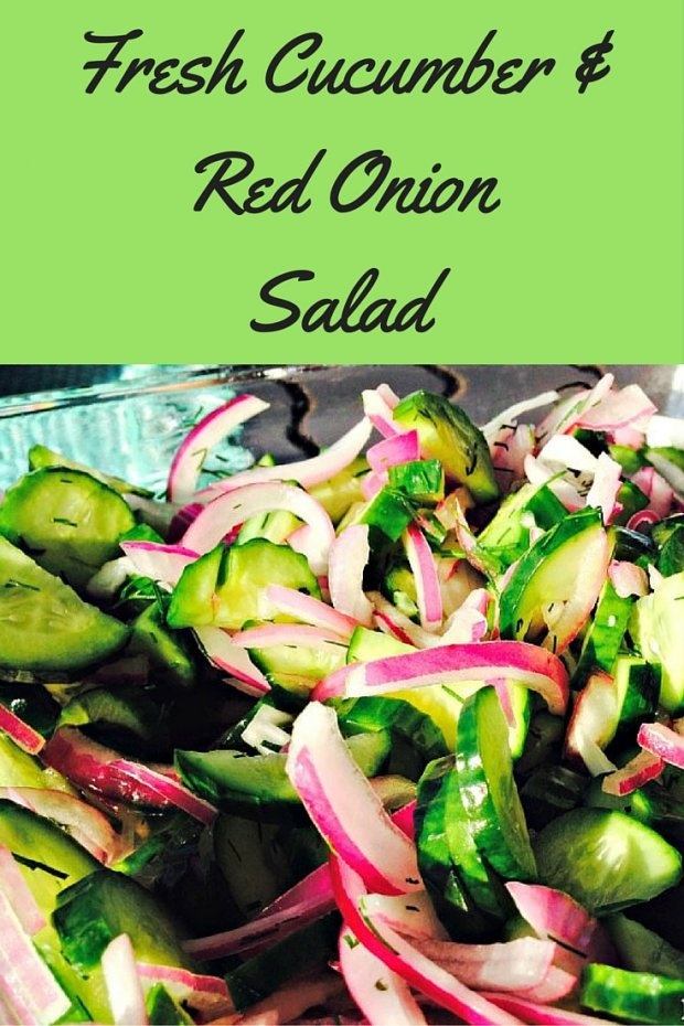 Fresh Cucumber &Red OnionSalad