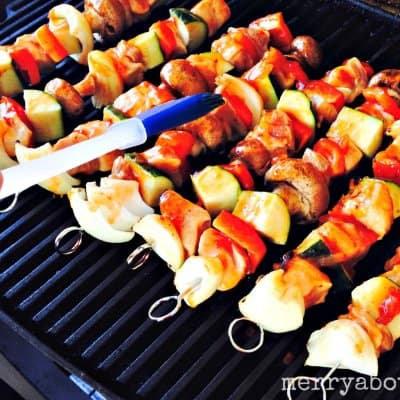 Pork Skewers on the Grill - Merry About Town