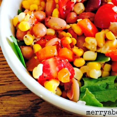 Easy Corn and Bean Salad - Merry About Town