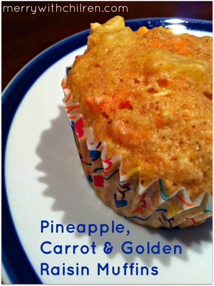 Pineapple and Carrot Muffins with Raisins