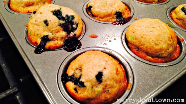 Zucchini Blueberry Mini Muffins - Merry About Town