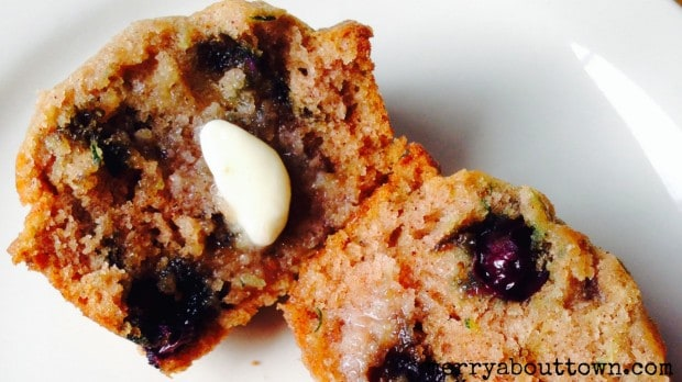 Zuchhini Blueberry Muffins - Merry About Town