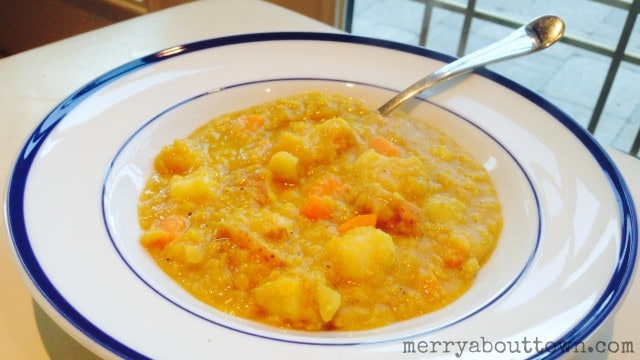 Chunky Curry Red Lentil Stew