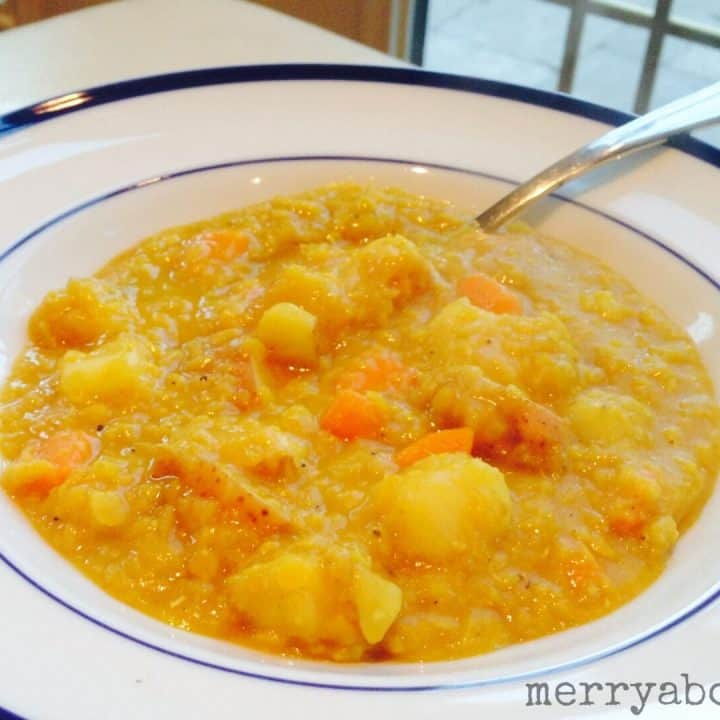Chunky Curried Red Lentil Stew - Merry About Town
