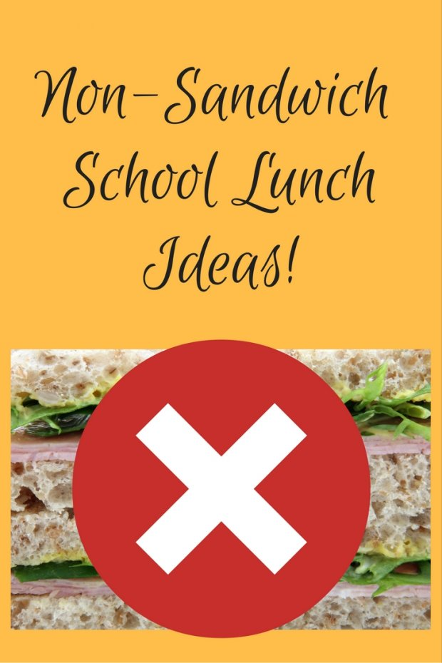 Non-Sandwich School LunchIdeas!