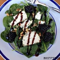 Blackberry Goat Cheese Spinach Salad