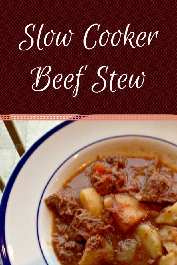 Slow Cooker Beef Stew. The perfect winter meal right in your crock pot.