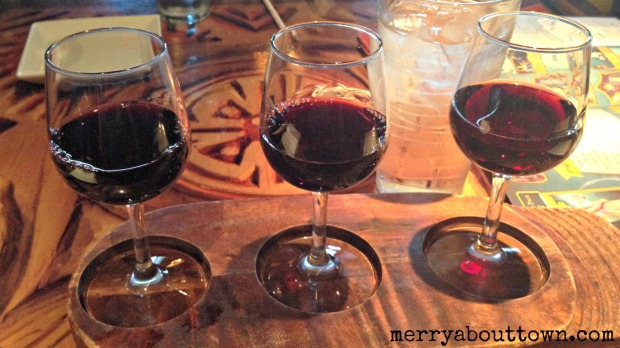 Wine Flight at Sanaa - Merry About Town