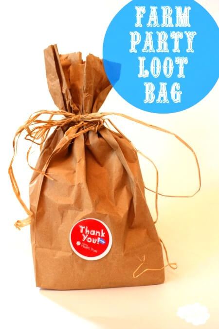 Easy Loot Bags for a Farm Party