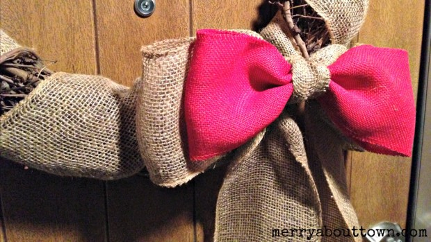 Burlap Double Bow - Merry About Town