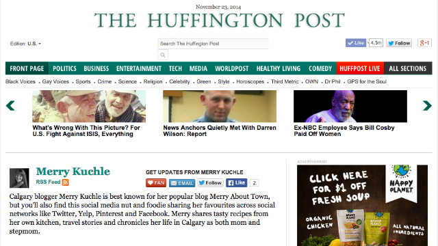 Come visit me on Huff Po!