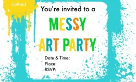Messy Art Party Invitations