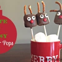 Easy Rudolph the Reindeer Pops