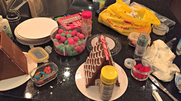 Gingerbread House Construction - Merry About Town