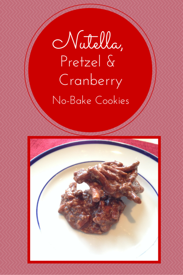 Nutella, Pretzel and Cranberry No-Bake Cookies