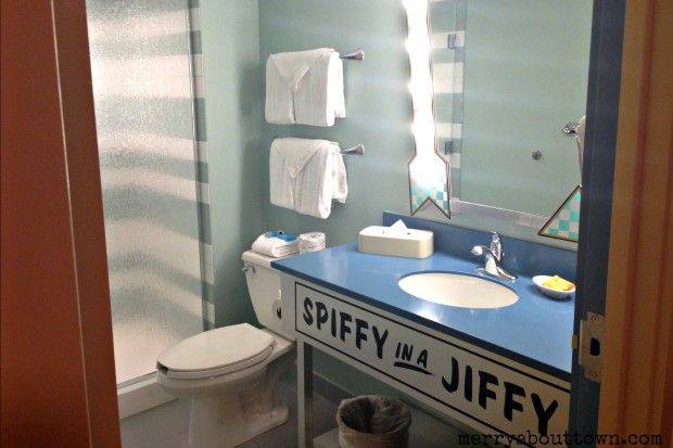 Bathroom in Art of Animation - Merry About Town