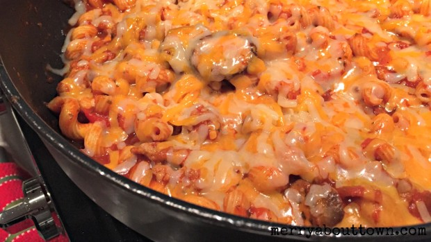 Cheesy Italian Sausage Pasta Skillet - Merry About Town