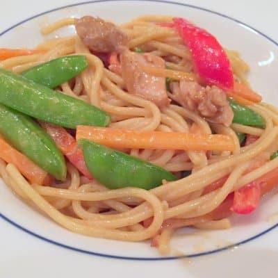 Asian Peanut Chicken Noodles