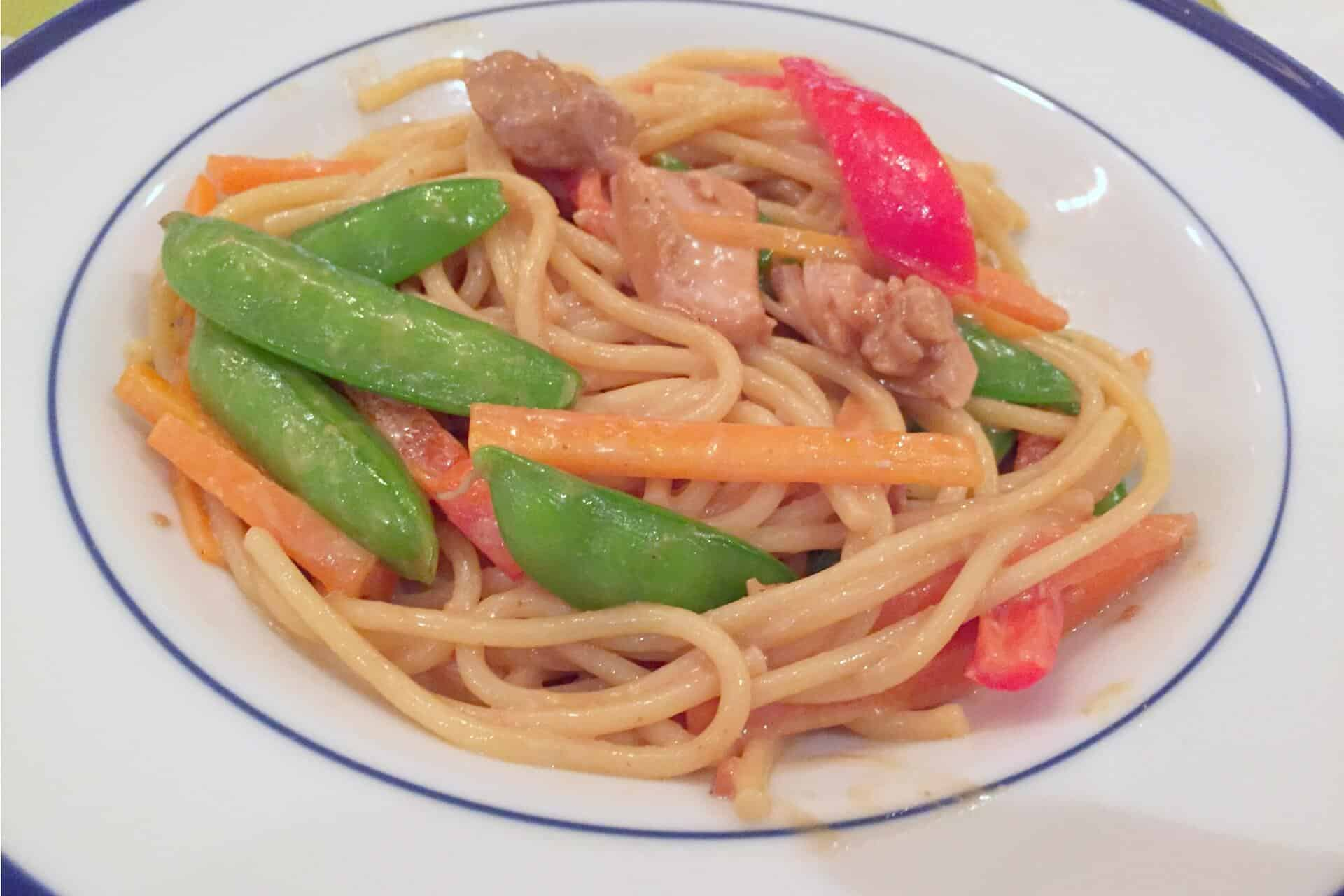 Asian Peanut Noodles with Chicken - Merry About Town