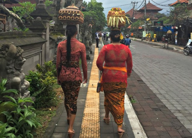 On the way to the Temple