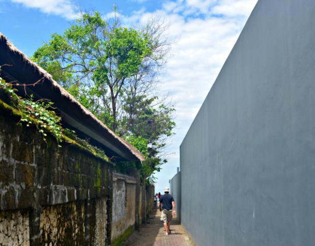 Walkway to Seminyak Beach in Bali
