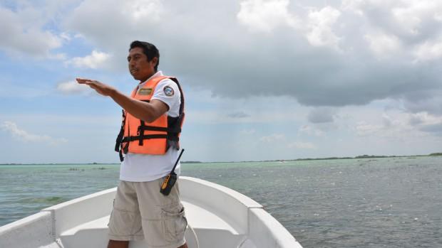 Our guide Alberto at Sian Ka'an