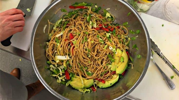 Chilled Noodle Salad with Ginger Wasabi Dressing