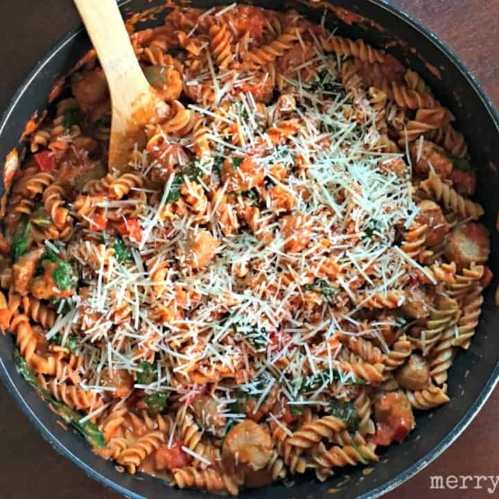Creamy Italian Pasta Skillet - Merry About Town