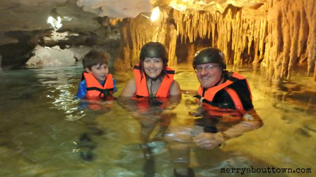 Exploring the Underground River at Kantun-Chi