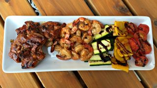 Honey Grilled Chicken and Shrimp with Cookina Reusable Grilling Sheets