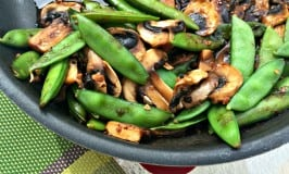 Snap Peas and Mushrooms in Black Bean Sauce