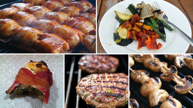 Collage of several different grill recipes