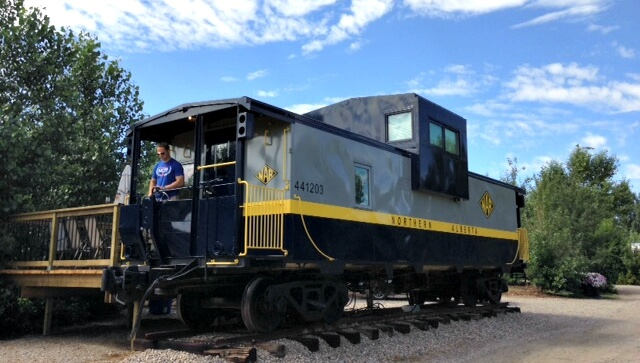 Family Friendly Staycation Near Calgary – Caboose Cabins at Aspen Crossing