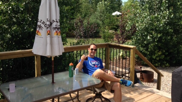 Hanging out on the Caboose Cabin deck