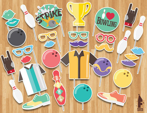 Bowling Party Printable Props