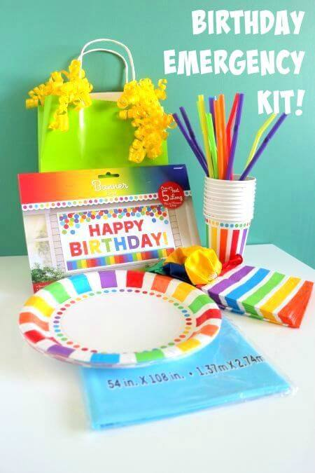 Emergency Birthday Party Supplies Kit