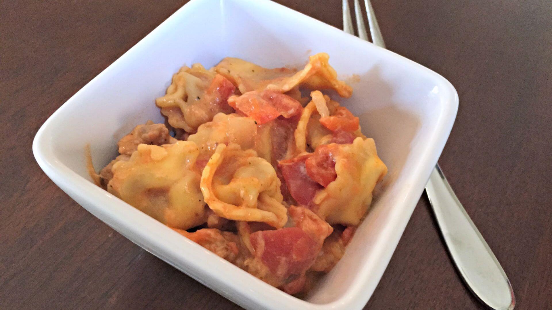Italian Sausage and Tortellini recipe