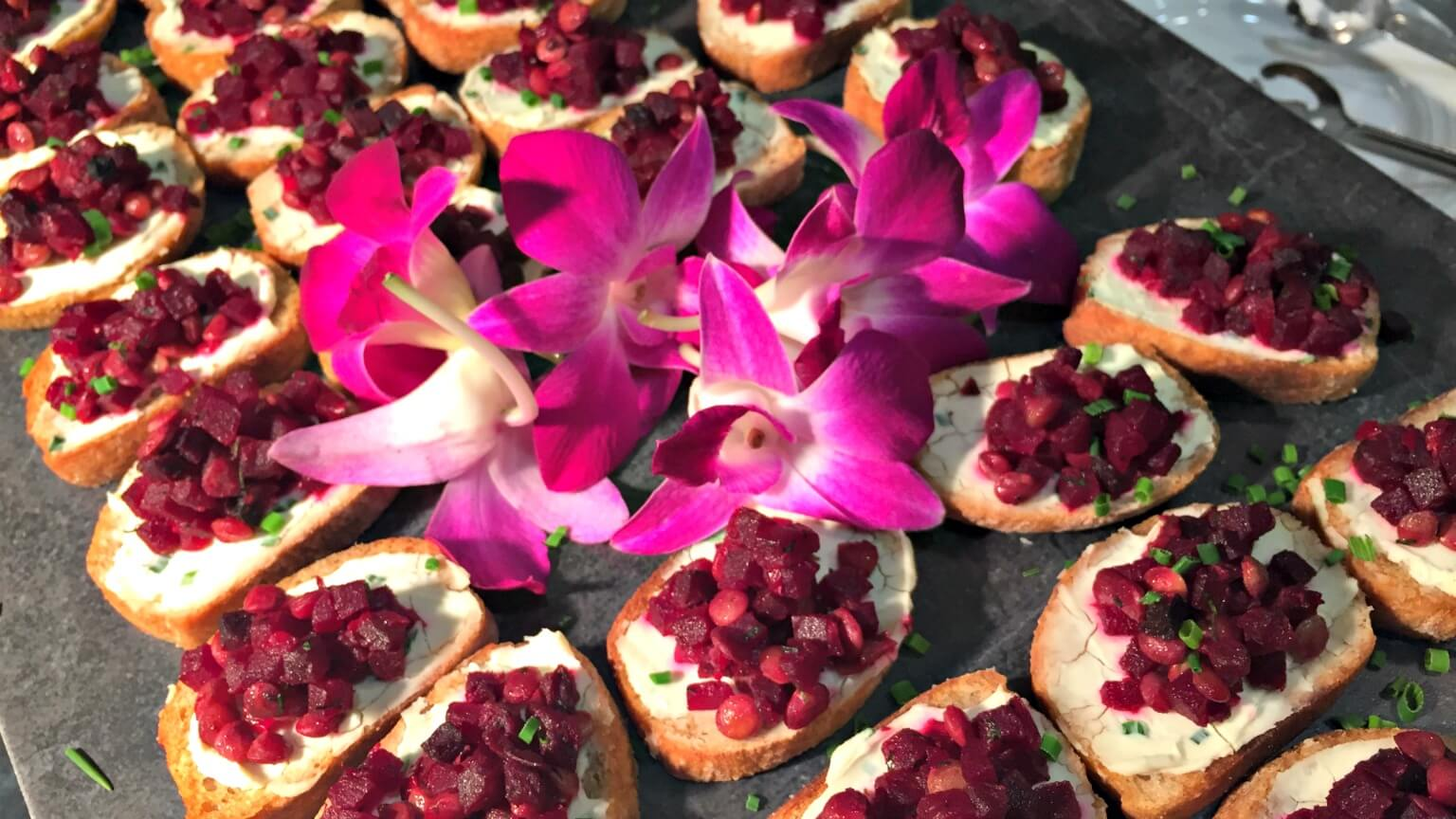 Beet and Lentil Toasts