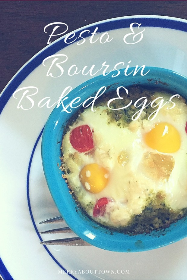 Pesto and Boursin Baked Eggs Recipe