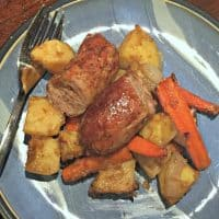 Roasted Root Vegetables and Italian Sausage