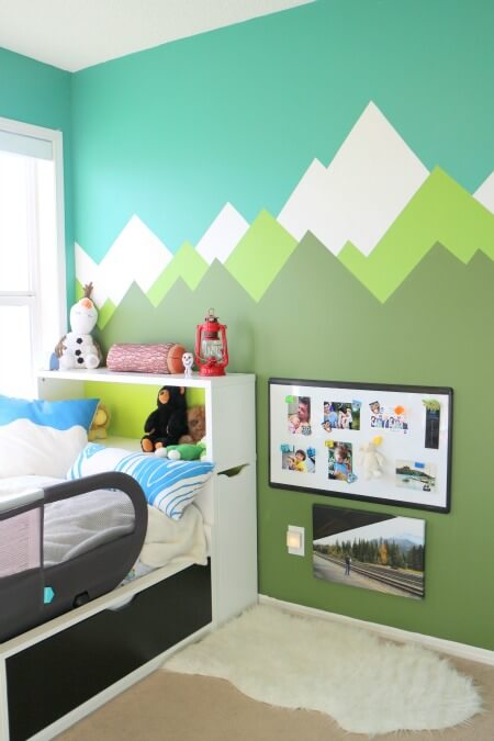An Alpine Room Makeover with a Mini Gallery Wall