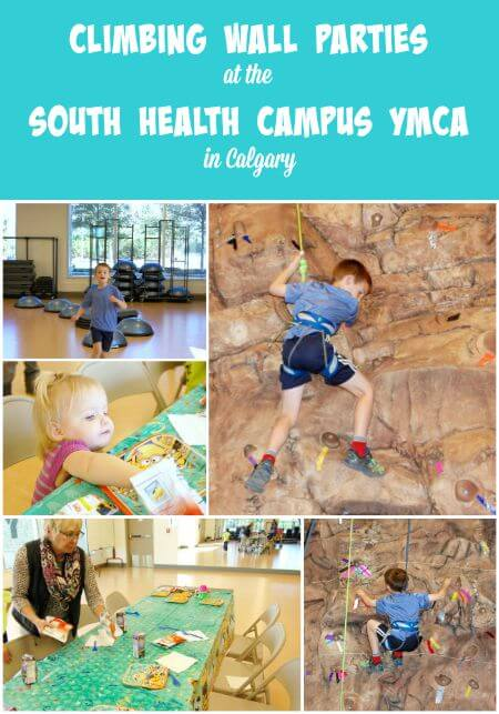 Climbing Wall Parties at YMCA Calgary