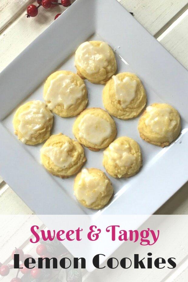 Sweet & Tangy Iced lemon cookies
