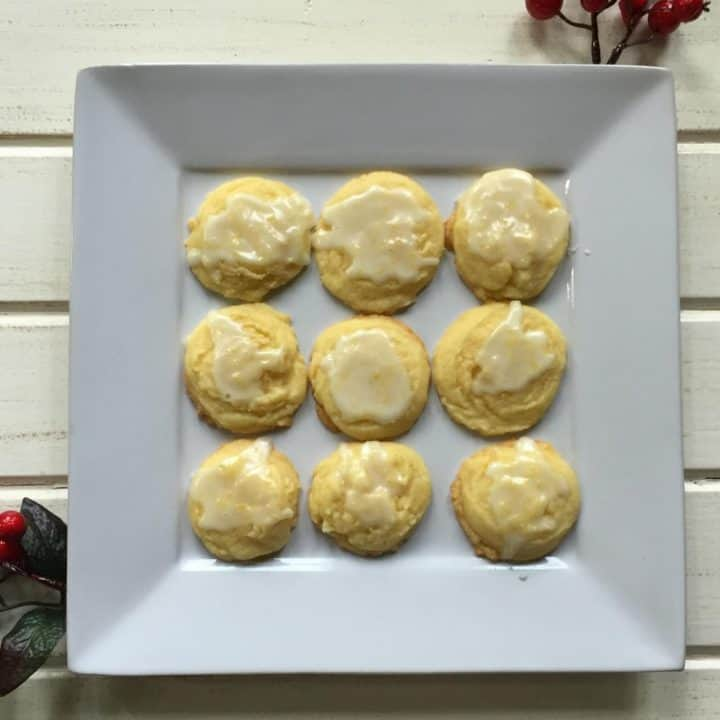 Sweet & Tangy Iced Lemon Cookies