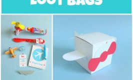 Loot Bags for an Airplane Party