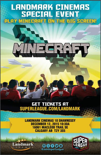 Minecraft event in Calgary Dec 12