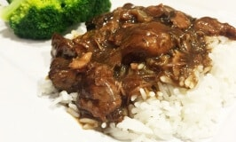Crockpot Beef Tips with Mushrooms