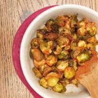 Hot Sauce Roasted Brussels Sprouts