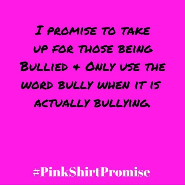 #PinkShirtPromise